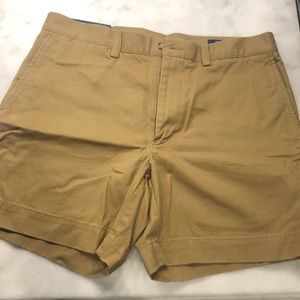 "Khaki Polo 6"" inseam shorts"